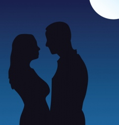 moonlight kiss vector image vector image