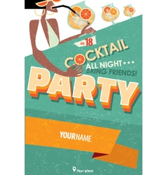 Poster for cocktail party vector image vector image