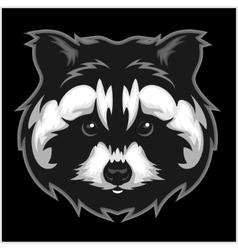 Raccoons head logo for sport club or team vector