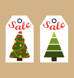 Sale new year stickers on vector