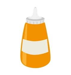 Sause bottle isolated icon vector