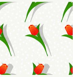 seamless flower pattern-01 vector image