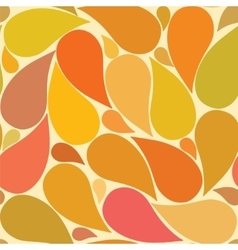 Seamless pattern leaves vector image