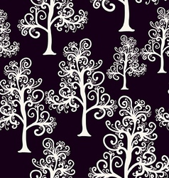 seamless pattern of imaginative trees vector image