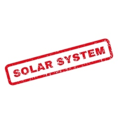 Solar system rubber stamp vector