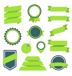 Stickers and Badges Set 11 Flat Style vector image vector image