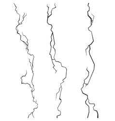 Wall Cracks Set on White Background vector image vector image