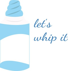 Whip it vector