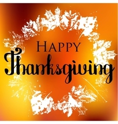 Happy thanksgiving with text greeting and autumn vector