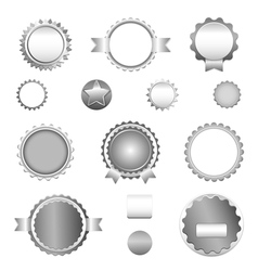 Set of sale badges labels and stickers in gray vector image