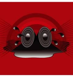 retro speakers vector image