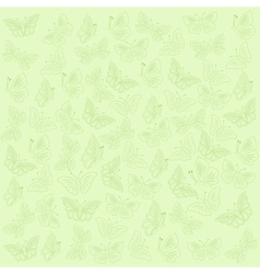 Butterflies green background vector