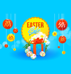 easter sale banner vector image