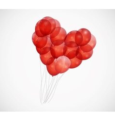 Balloon heart background vector