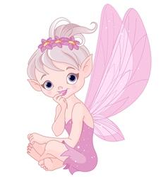 Listening fairy vector