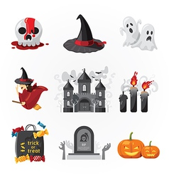 Halloween icons design vector