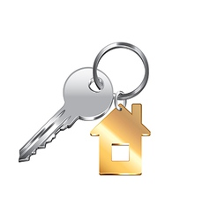House key isolated vector