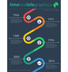Time line info graphic with diagram and over graph vector