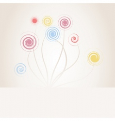 Spiral flower vector