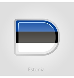 Estonian flag button vector
