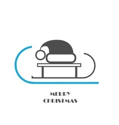 Christmas hat on slad icon vector