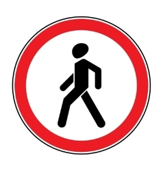 No walking sign vector