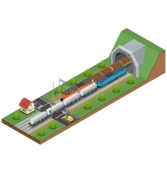 Isometric of a railway vector