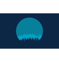 On blue backgrounds city silhouettes vector