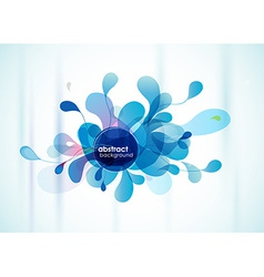 Abstract blue background reminding flower vector