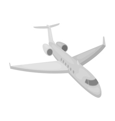 Airplane icon in monochrome style isolated on vector