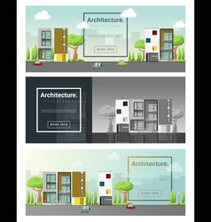 Architecture background cityscape banner 5 vector