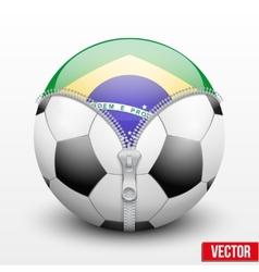 Brazil symbol inside soccer ball vector