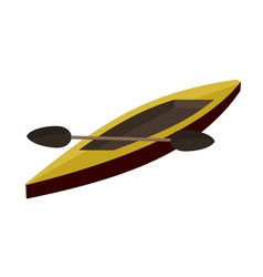 canoe paddle EPS10 vector image vector image