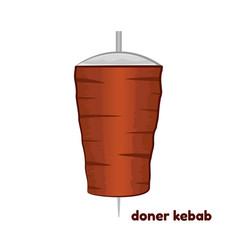 Cartoon doner kebab vector