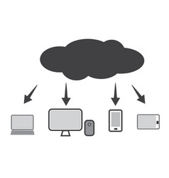Cloud technology icon web cloud technology vector