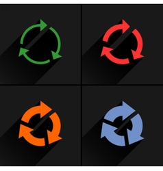 Color arrow reload refresh reset repeat icon vector