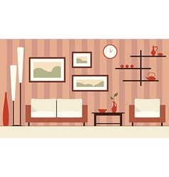 color interior of cartoon minimalistic moder vector image