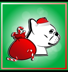 Cute french bulldog in christmas festival vector