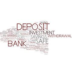 Deposit word cloud concept vector