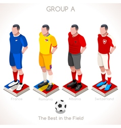 Euro 2016 championship group a vector