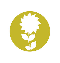 flower natural design icon vector image