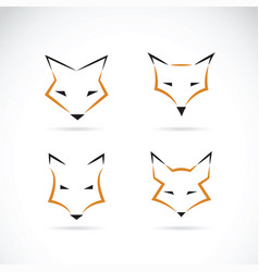 fox face design on white background wild animals vector image vector image
