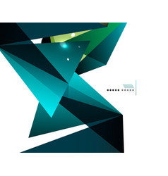 Geometrical abstract triangle background vector