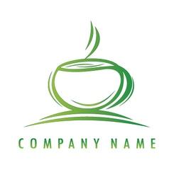 Green cup logo vector