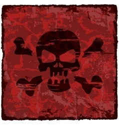 Grunge vintage background with skull vector