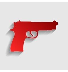 Gun sign vector image vector image