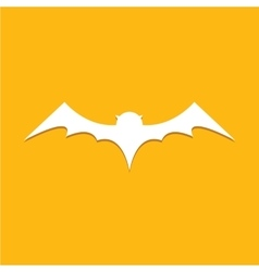 Halloween bat icon vector