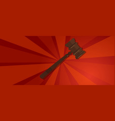 law gavel wooden hammer justice legal judicial vector image vector image