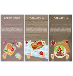 Menu for lunch vector