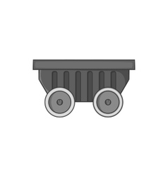Mining cart icon black monochrome style vector